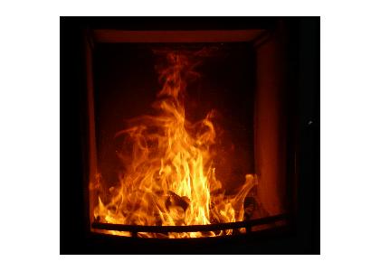 Bild von einem Feuer im Kaminofen